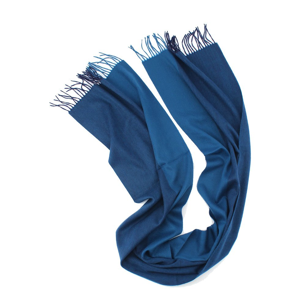 New Spell Color Style Cashmere Scarf Two Color Stiching Scarves Dark Blue and Navy