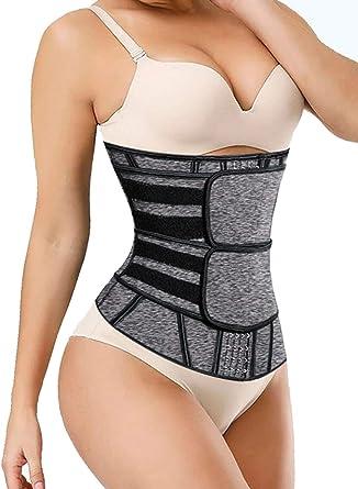 Acelitt Women Ladies Waist Trainer Weight Loss Corset Trimmer Belt Waist Cincher Body Shaper Size S-XXXL