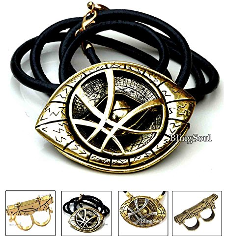 Blingsoul Doctor Strange Eye Of Agamotto Amulet   Infinity Stone Necklace Gift