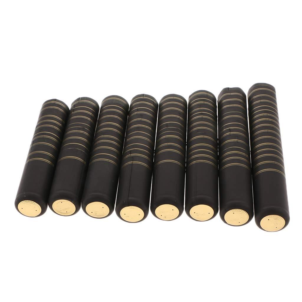 30mm Noir PETSOLA Les Capsules De R/étr/écissement De PVC 100 Chapeaux De Thermor/étr/écissable De Chaleur Manquent La Touche Finale Parfaite pour des Bouteilles De
