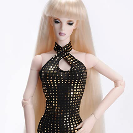 """DOLLMORE 16/"""" Fashion doll wig Size Blonde 4-5 inch Long Straight Wig"""