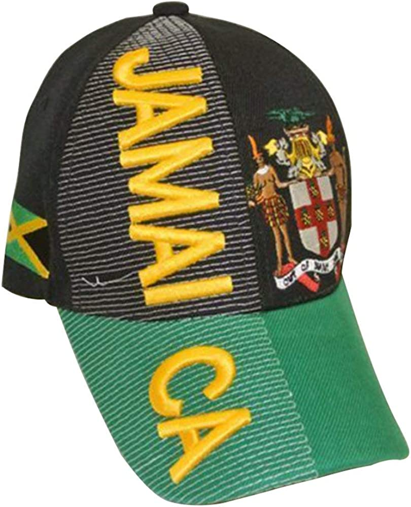 Baseball Caps Hats with Five 3D Embroideries Countries of Americas