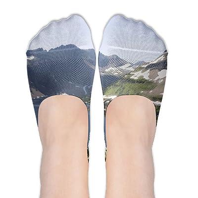 DISXHSH Thin Hidden No Show Liner Glacier National Park Coeur DAlene Athletic Running Socks Non Slip Flat Boat Line