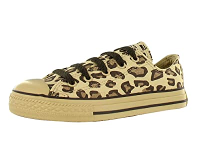 5882cfa614cd Converse Kids  All Star Chuck Taylor Animal Print Leopard Ox Casual Shoes  Beige