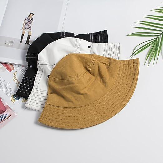 Hikari-Ai Band Fisherman Bucket Hat Outdoor Hat Cap Sun Hat For Men   Women  - White - One Size  Amazon.co.uk  Clothing ae297fb8fb3