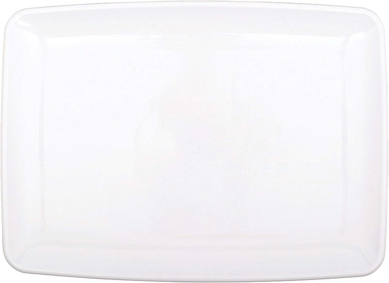 amscan - Bandeja de 20,3 x 27,9 cm de plástico, tamaño pequeño, Blanco