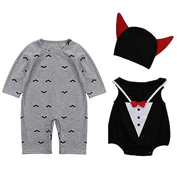 9a9ff9be8015 Le SSara Baby Devil Vampire Halloween Romper Newborn Bodysuit ...