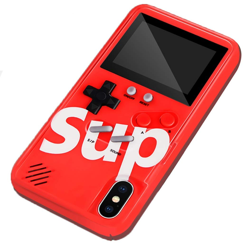 Phone Charms Game Console X Mobile Phone Shell iPhone Tetris 8 8p Color Screen 6splus Couple Decompression X Men and Women Silicone Soft Shell (Color : Red, Size : iPhone 11 PRO) by Phone Charms