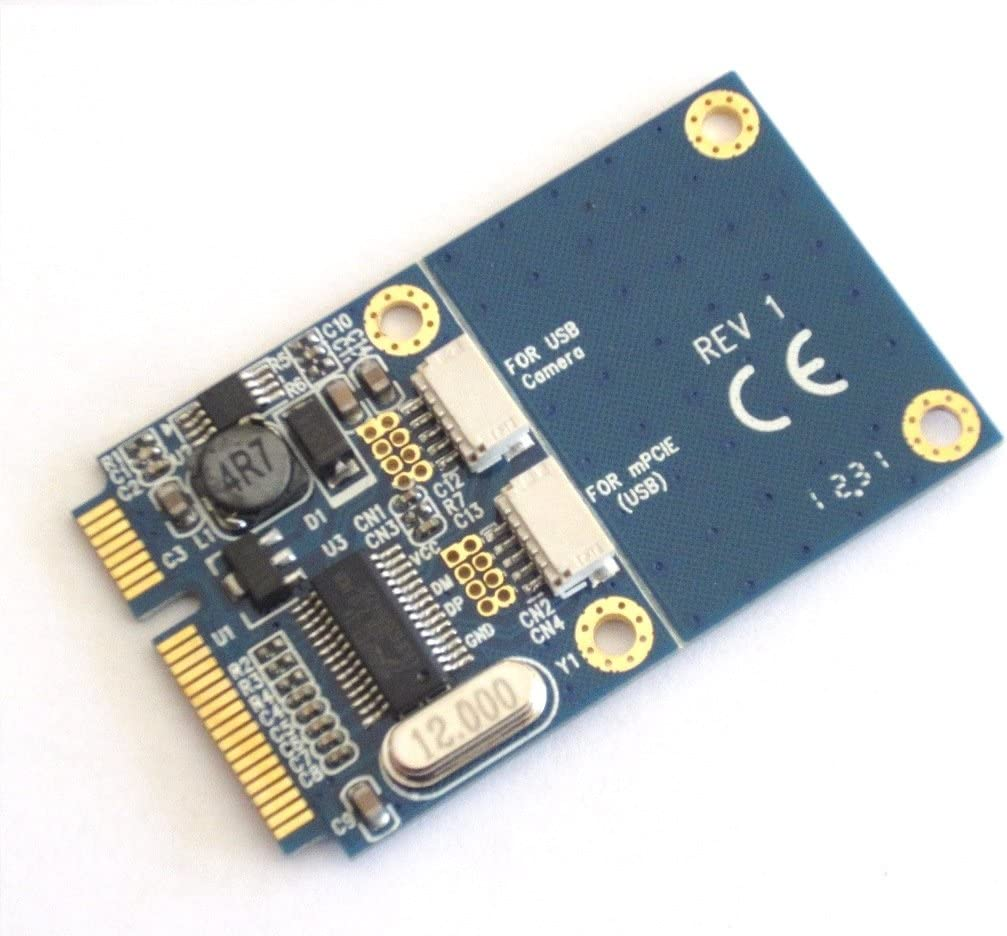 Micro SATA Cables Mini PCIe to Dual USB Adapter
