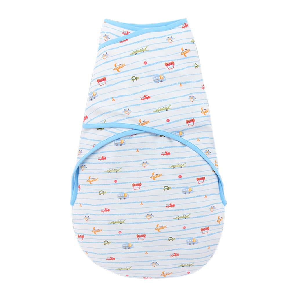 HUYP 赤ちゃん寝袋ラップ毛布アンチキックされている新生児夏ファッション漫画0-6ヶ月女の子 (色 : 青, サイズ さいず : 66 yards) 66 yards 青 B07P3Z74CD