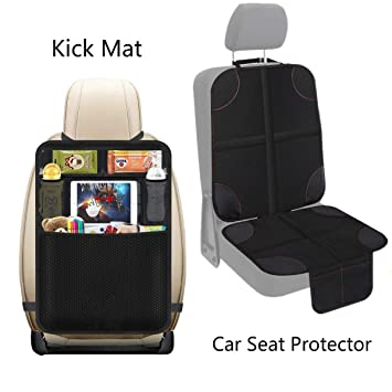 Lebogner Car Seat Protector Or From Your Pets Luxury Mat Cover Protector To Keep Nice And Clean Under Your Baby/'s Infant Car Booster Seat Protects Your Auto Leather And Upholstery Seats From Damage