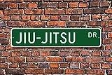 Jiujitsu Sign Fan Jiujitsu Participant Jiujitsu Gift Japanese Martial Art Wall Art Sign Decorative Plaque Post Street Sign 45 x 10cm