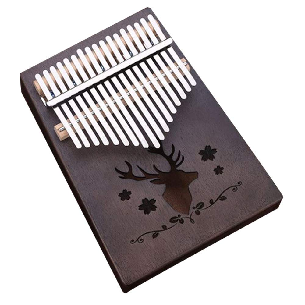LVSSY-Kalimba 17 Keys Thumb Piano with Study Instruction and Tune Hammer,Portable Mbira Sanza Likembe African Wood Finger Piano,Gift for Kids Adult Beginners,A by LVSSY