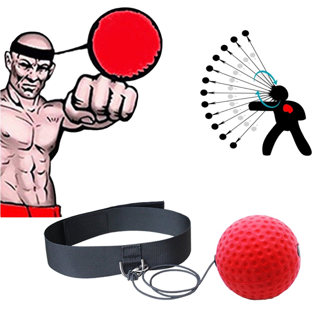 Enshey Boxing Reflex Ball Training Speed Ball for Boxing with Adjustable Head Band, Ball & Elastic Rope to Improve Reaction, Speed for Training and Fitness