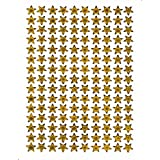 Star Stars GOLD sticker sticker decal Metallic Glitter 1 sheet Dimensions: 13.5 cm x 10 cm