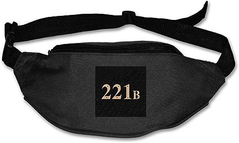 HKUTKUFGU Fanny Pack para Mujeres y Hombres 221B Baker Street Sherlock Holmes Bolsa de Cintura de Viaje Bolsillo Cartera Bum Bag para Correr, Ciclismo, Senderismo, Entrenamiento: Amazon.es: Deportes y aire libre
