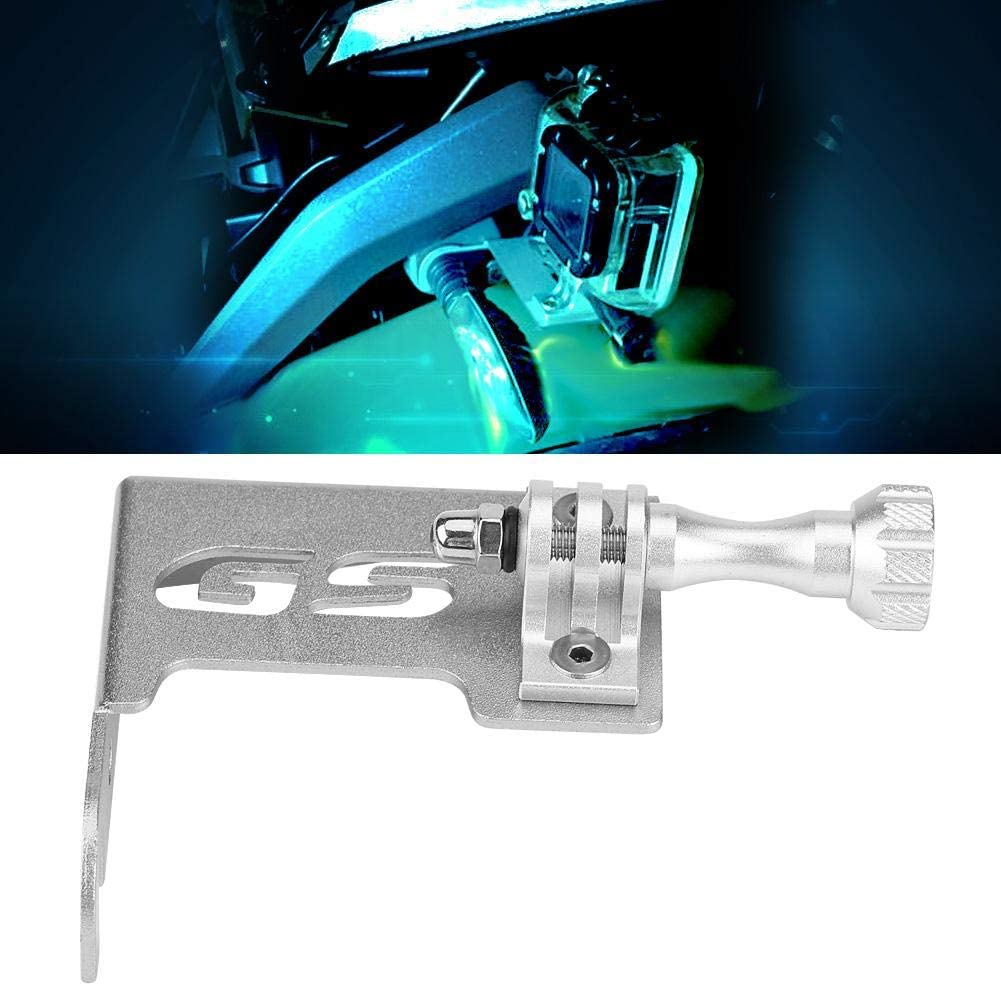 1 PC of R1200GS LC R1200GS LC,Motorcycle Front Left Camera Bracket. Black and Sliver L Bracket Color : Black