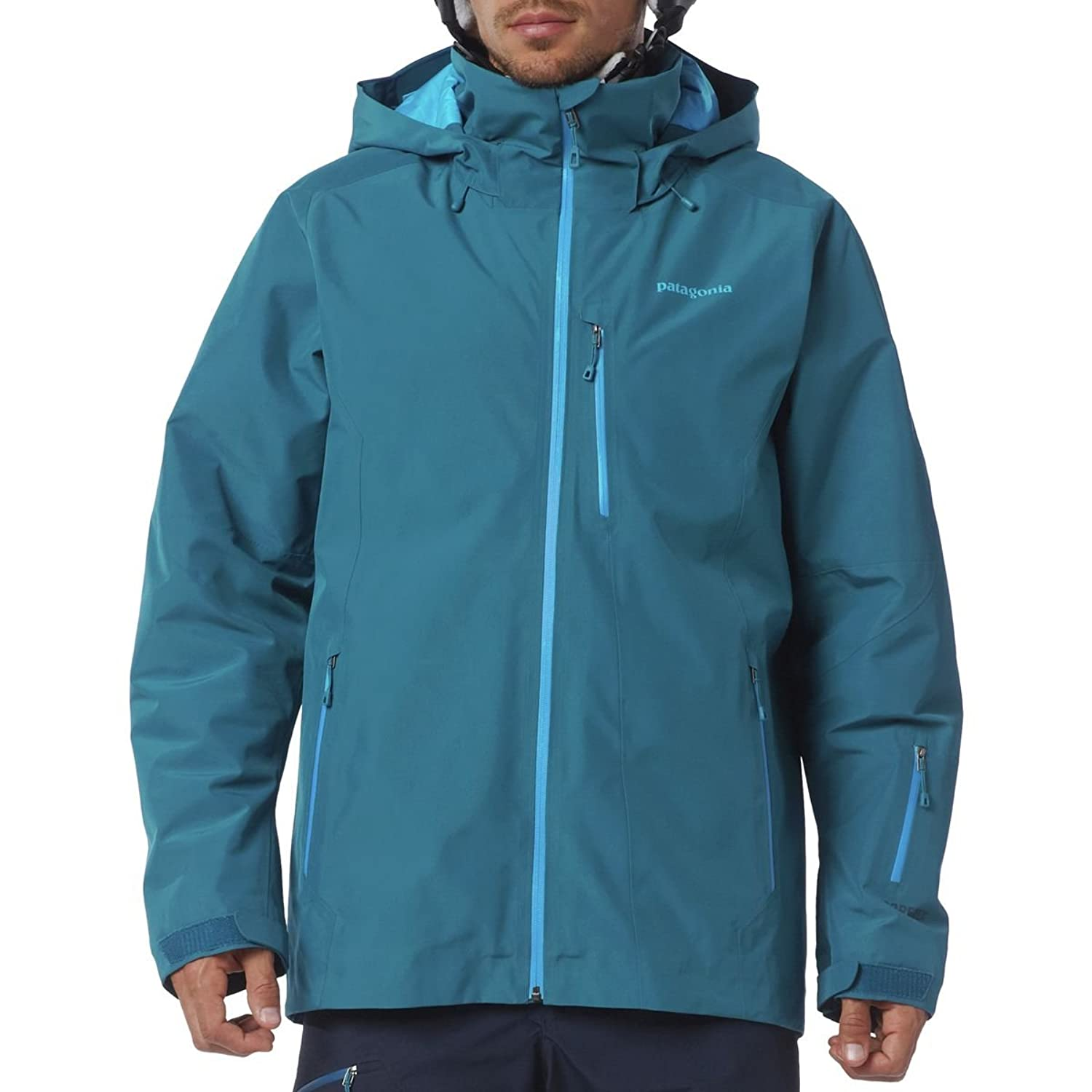 Patagonia M Insulated Powder Bowl Jacket - Underwater Blue - L - Wasserdichte isolierte Herren Gore-Tex® Ski- und Snowboardjacke