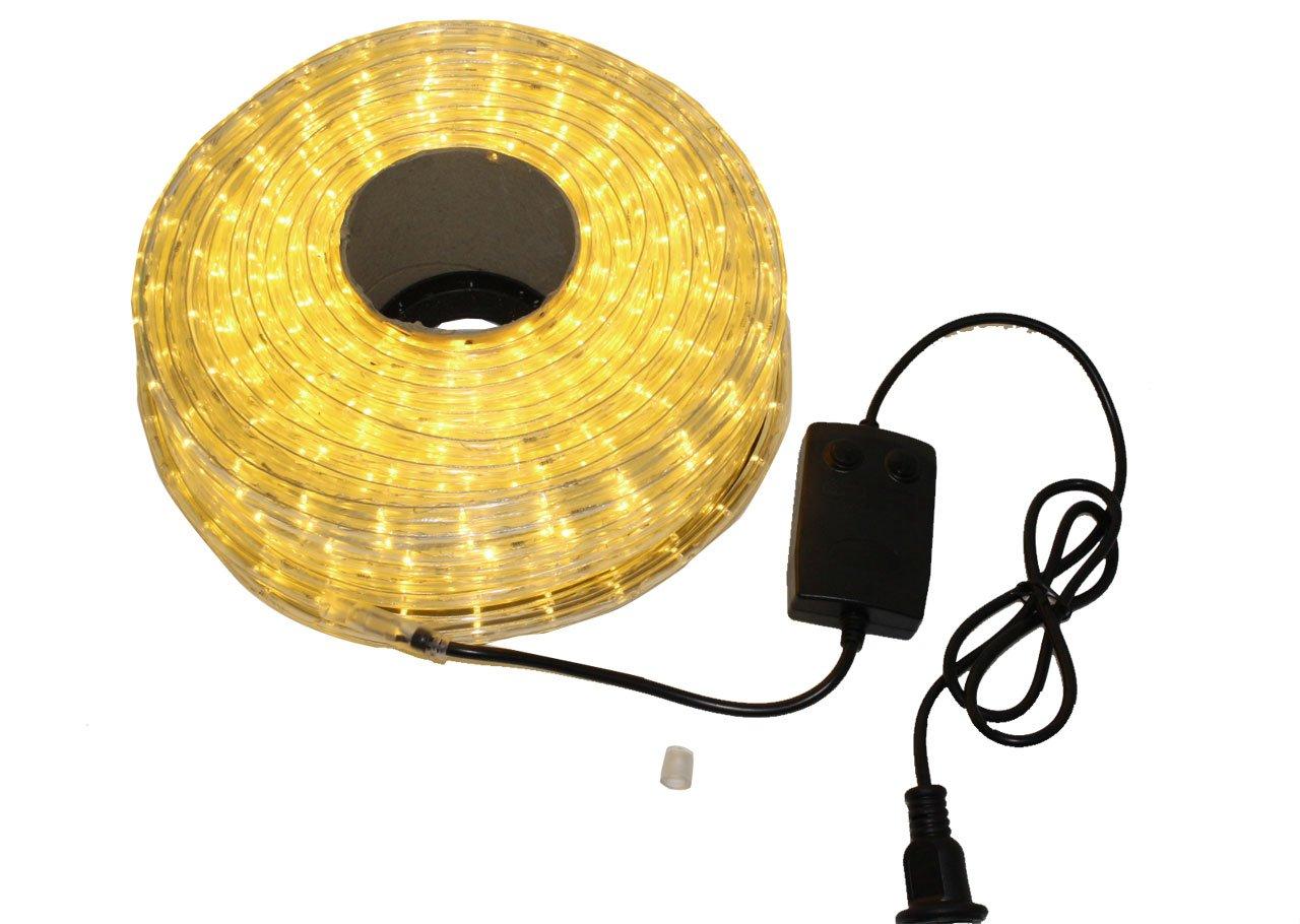 クリスマス イルミネーション 2芯 丸型 防水 ロープ ライト 1500 LED / 50m シャンパン ゴールド 33種類 コントローラー セット B01LW5VHJ2 13980