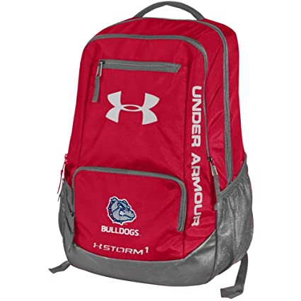 Image Unavailable. Image not available for. Color  Under Armour Gonzaga  Bulldogs Hustle Backpack ... 957f3150abce9