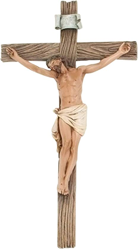 Christ Cross Crucifix JESUS Classic Catholic Statue Hanging 3D Craft Wall  」