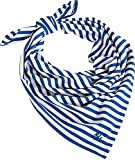Coolibar UPF 50+ Girl's Aqua Bandana - Sun Protective (One Size- Blue Wave Stripe)