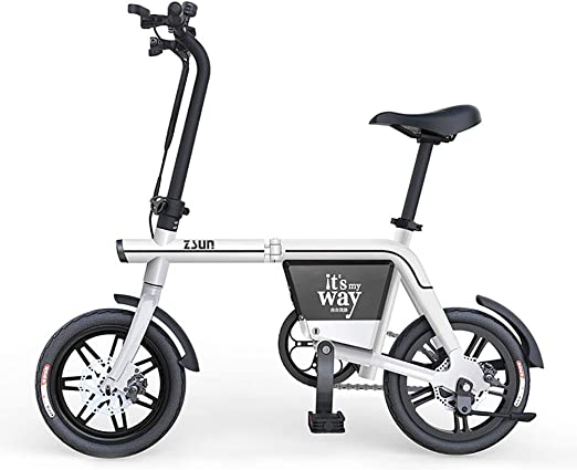 FJW Unisexo Bicicleta electrica 48V 350W Bicicleta Plegable 14 ...