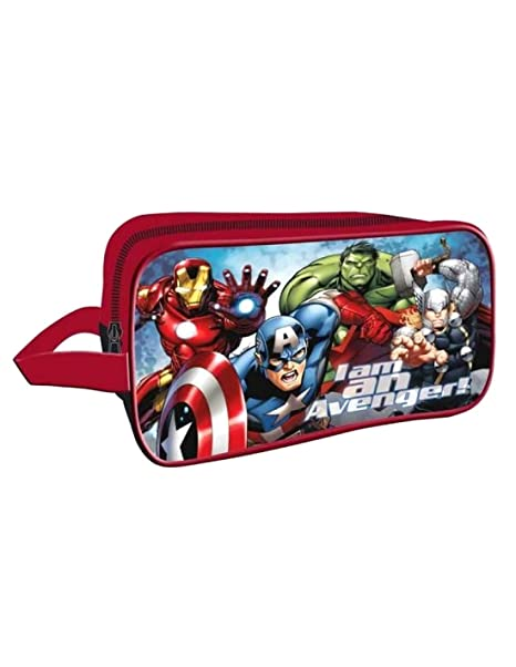 Les Avengers - Bolsa de aseo Niños rojo Talla única: Amazon ...