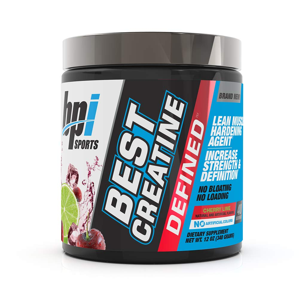 BPI Sports Best Creatine Defined Lean Muscle Hardening Agent, Cherry Lime, 10.58 Ounce by BPI Sports