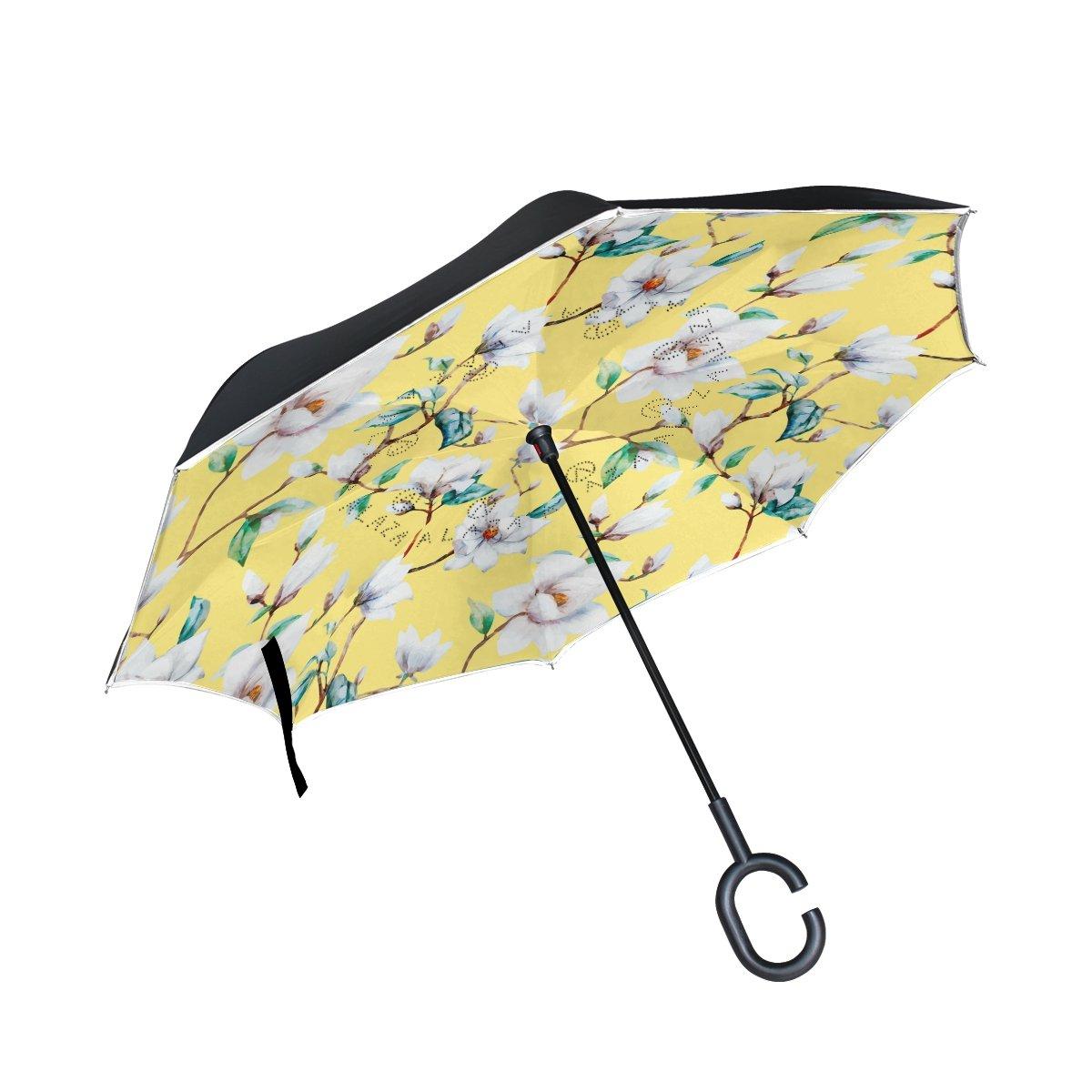 ALAZA - Paraguas inverso de Doble Capa, Color Amarillo, Resistente ...