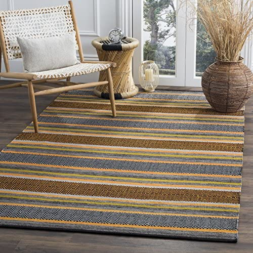 Safavieh Montauk Collection MTK212A Navy and Multi Area Rug 3 x 5