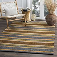Safavieh Montauk Collection MTK212A Navy and Multi Area Rug (3 x 5)