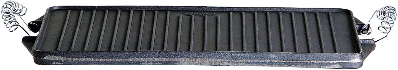 Garcima 5010250 Plancha Hierro Fundido Rectangular 43/24 x 44 cm