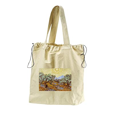 2ea22096d646 60%OFF Olive Trees  1 (Van Gogh) Canvas Drawstring Beach Tote Bag ...