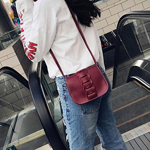 V Bolso Piel Pequeña Mujer Bolsos Bandolera Baratos Rojo Hombro Para Esailq Niñas De OwxPfqR
