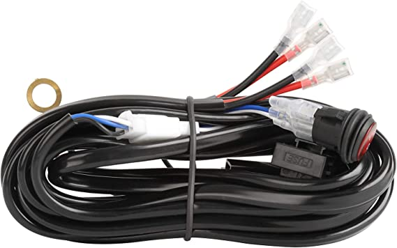 [DIAGRAM_38YU]  Amazon.com: AAIWA Wiring Harness LED Light Bar Wiring Harness Kit for Off  Road Lights LED Work Light with 12V 40A Fuse Relay On Off Switch,2 Lead:  Automotive | Led Light Bar Wiring Harness And Switch Kit |  | Amazon.com