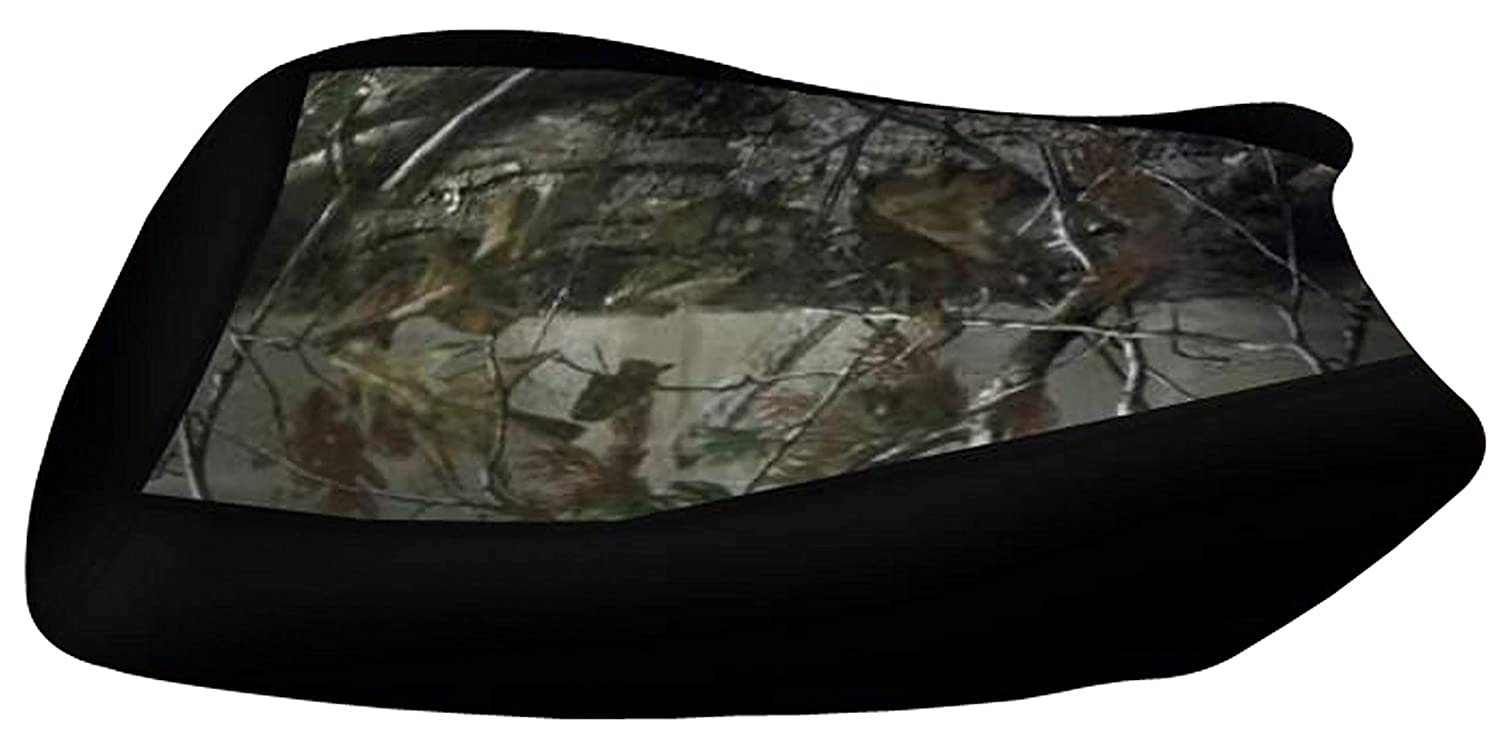 VPS Seat Cover Compatible With Yamaha Grizzly 350 400 450 660 Black Top Camo Sides Elk Seat Cover