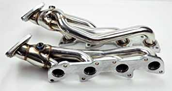 CCIYU Stainless Steel Header Exhaust Manifold Fits for 2000-2004 Toyota Tundra 4.7L V8