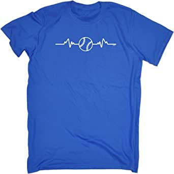 123t Funny Tee - Baseball Pulse - Mens T-Shirt