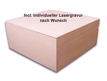 Amazon.de: quadratische Holzbox, Aufbewahrungsbox, Holz-Schachtel ...