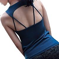 POUREVE Camiseta Sin Mangas Deportiva Sujetador para Mujer