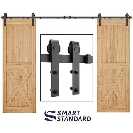 Smartstandard 10ft Heavy Duty Double Gate Sliding Barn Door Hardware