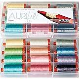 Aurifil Thread Set Pastel Collection 50wt Cotton 12 Large (1422 yard) Spools