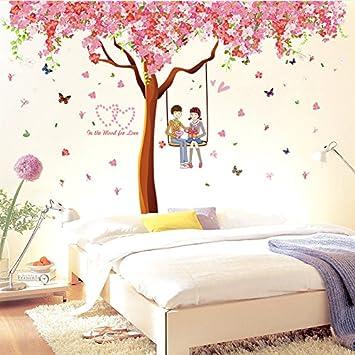 Jysport Nursery Environment Swirling Butterflies Romantic Cherry