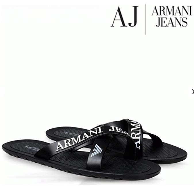 71e14917f053 BNWT EA7 Emporio Armani Flip Flops Open Toes Eagle Logo Mules Slippers  Sandals Beach Shoes (UK7 EU40)  Amazon.co.uk  Shoes   Bags