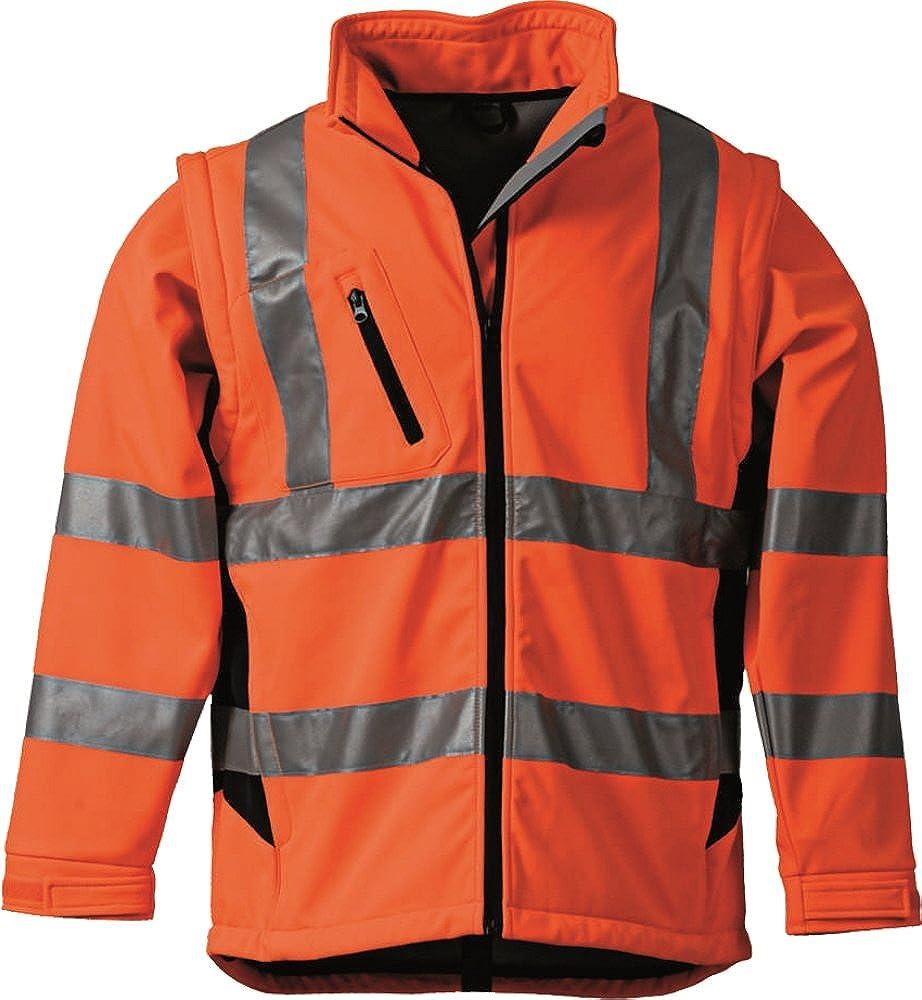 Warnschutzjacke Neongelb//Marine oder neonorang//Marine G/ödecke Textil Softshell