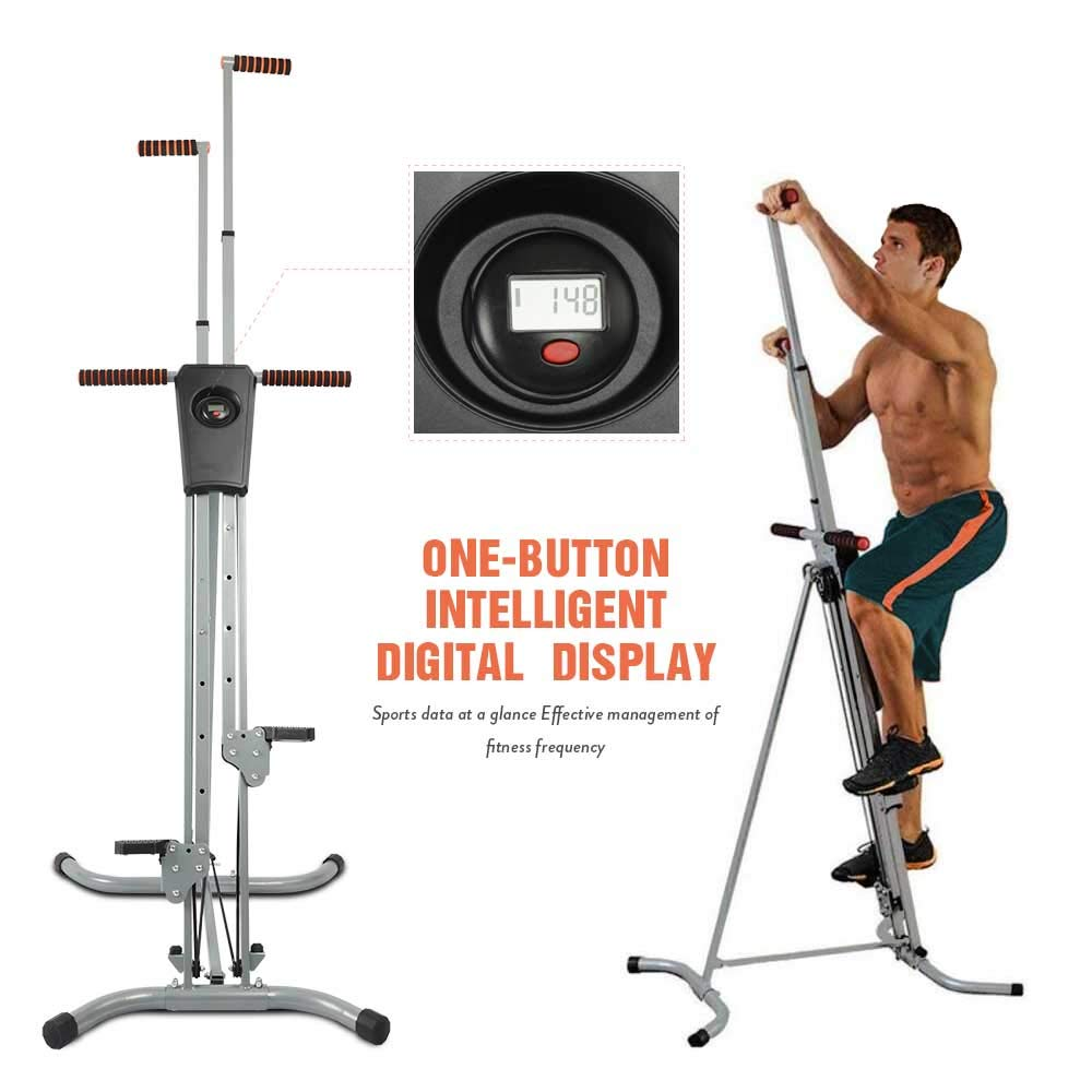 Apelila Total Gym Vertical Climber w/LCD Monitor,Step Climber Vertical Climber Exercise Machine, Folding Exercise Climbing Machine for Home Gym w/Gift Towel by Apelila