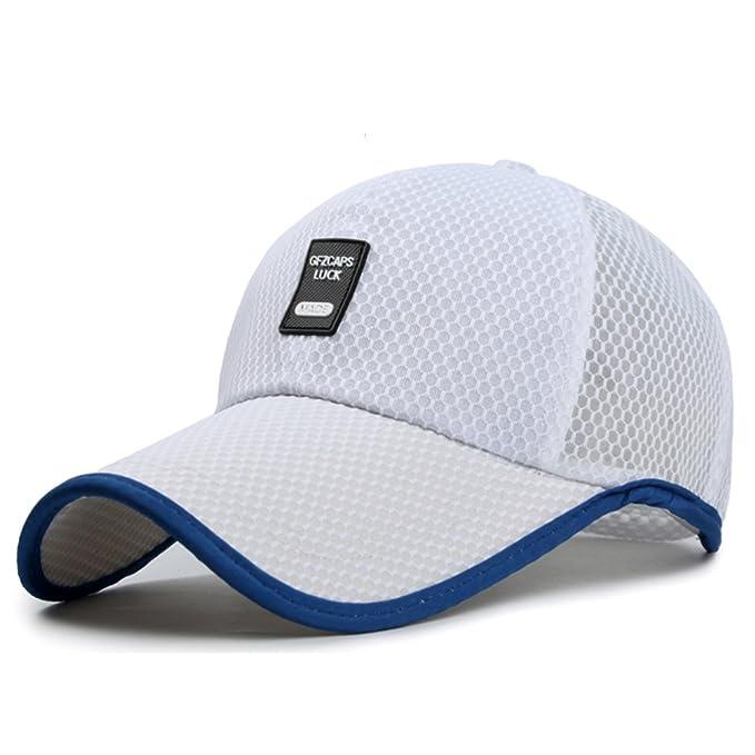 Sombrero Gorros para hombres verano al aire libre respirables  largo malla  sombrero de béisbol Versión coreana de la visera Sombrero para el sol-K ... aa7f0f3d715
