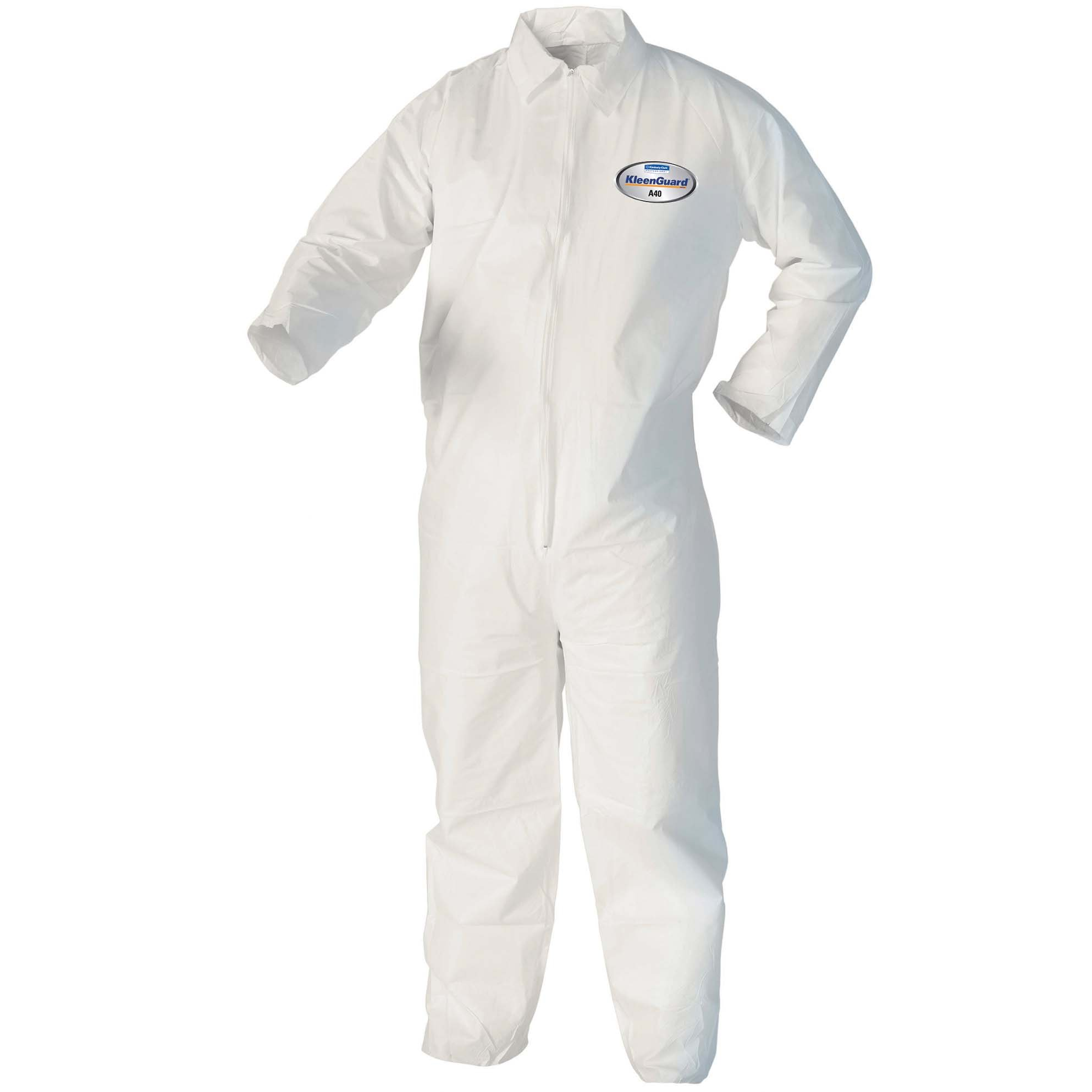 Kleenguard 37687 A40 Liquid and Particle Protection Microporous Film Coveralls, Vending Machine Ready,, 6.750'' Height, 2.750'' Width, 6.750'' Length, 2XL, White (Pack of 25)