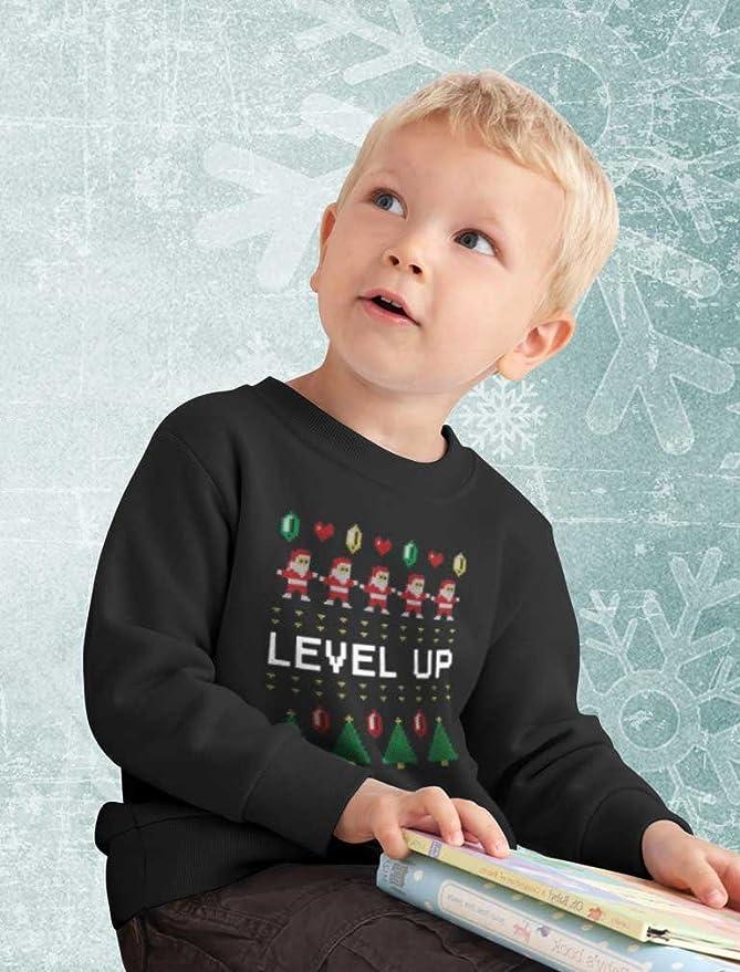 Tstars Santa Video Game Ugly Christmas Sweater Arcade Toddlerkids